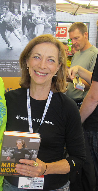 Makers: Women Who Make America - Image: Kathrine Switzer at the 2011 Berlin Marathon Expo