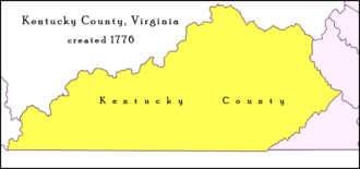 Kentucky County, Virginia - Kentucky County, 1776–1780, as established by the Virginia General Assembly