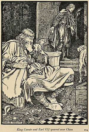 Ulf the Earl - King Canute and Earl Ulf as imagined by Morris Meredith Williams in 1913