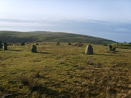 Kinninside Stone Circle at Blakeley Raise, Cumbria (Wiki)