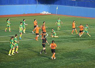 2015–16 Turkish Women's First Football League - 2015–16 season's match between Kireçburnu Spor and 1207 Antalaya Muratpaşa Belediyespor.