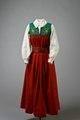 Klänning tullgarnsdräkten, skjortblus tullgarnsdräkten, bälte tullgarnsdräkten - Livrustkammaren - 86099.tif