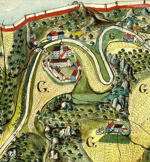 Klosterkarte Beuron