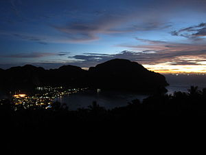 Ko Phi Phi after sunset, preparing for the night