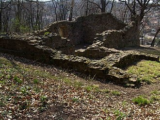 Komló - Remains of medieval chapel in Komló