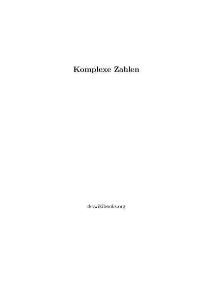 Komplexe zahlen formelsammlung pdf free