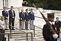 Korean Veterans Association Chairman lays a wreath at the Tomb of the Unknown Soldier at Arlington National Cemetery (21078972732).jpg