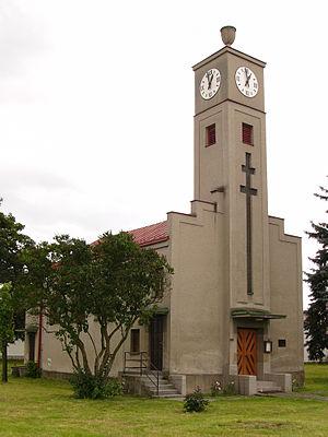 Czechoslovak Hussite Church - Church in Olomouc-Černovír (Czech Republic).