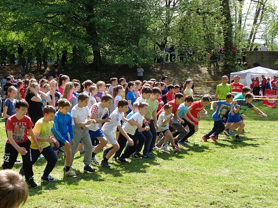 A children's cross country competition in Croatia Kros (2016) - start djecaka.JPG