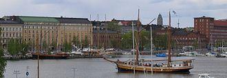 Kruununhaka - Image: Kruununhaka Helsinki As Seen From Katajanokka
