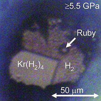 Krypton - Image: Krypton hydride crystal