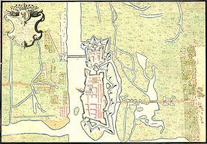 Kostrzyn nad Odrą - The town in around 1728