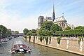L'île de la Cité, Notre-Dame et le pont au double, Paris mai 2014.jpg