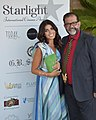 L'attrice Giorgia Fiori insieme al regista Tony Gangitano alla 78esima mostra internazionale d'arte cinematografica di Venezia.jpg