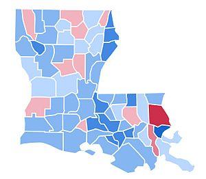 United States presidential election in Louisiana, 1996 - Image: LA1996