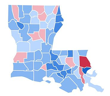 United States Presidential Election In Louisiana Wikipedia - Us electoral map 1996