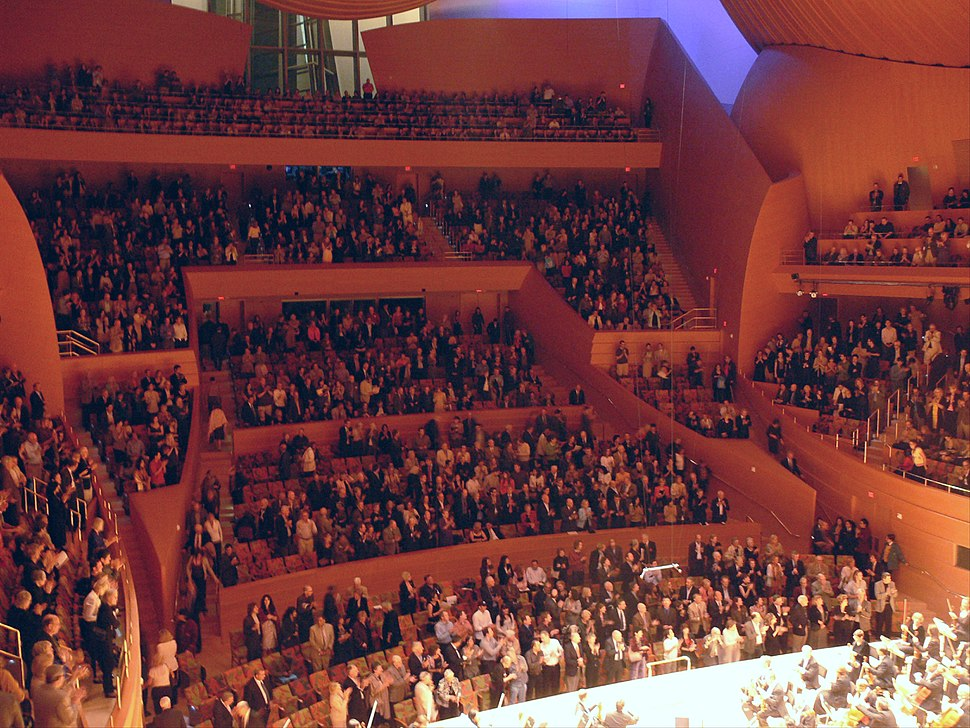 LA Disney Concert Hall auditorium