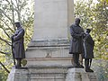LNWR War Memorial, Euston - southeast, northeast and northwest statues 01.jpg