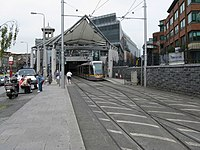 LUAS tram at Connolly station - geograph.org.uk - 1387505.jpg