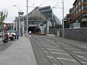 Red Line (Luas) - Image: LUAS tram at Connolly station geograph.org.uk 1387505
