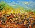 La Batalla de San Jacinto (Segun Test. Mayor Gral. Carlos Alegria 1886) del pintor nicaraguense Wilberth Saenz.jpg