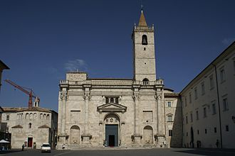 Ascoli Piceno Cathedral - Ascoli Piceno Cathedral with its baptistery to the left