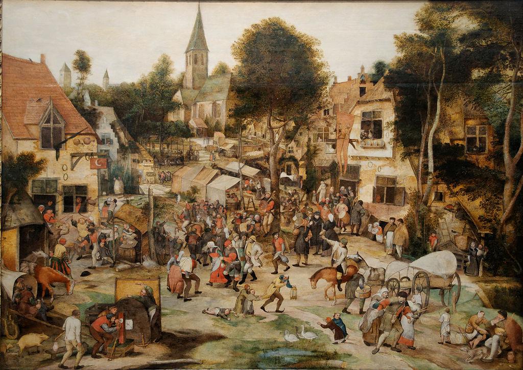 """> """"Kermis"""", """"Kermesse"""" en français - Peinture du flamand Pieter Balten au musée des Beaux Arts de Budapest"""