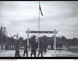 Labuan War Cemetery - Image: Labuan War Cemetery, Ending Ceremony