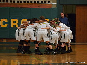 Holy Cross High School (Connecticut) - Lady Crusaders Before a Win