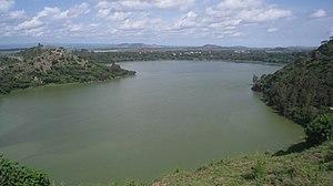 Bishoftu - Lake Hora, one of five crater lakes in Bishoftu.