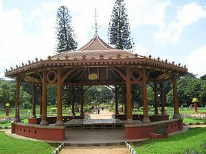 Lal Bagh - This wooden structure is meant for musical Orchestra