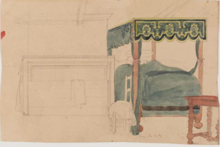 Sketch of a Canopy Bed