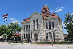 Lampasas, Texas - The Lampasas County Courthouse was completed in 1884. The structure was added to the National Register of Historic Places on June 21, 1971.