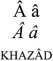 Latin small and capital letter a with circumflex.jpg