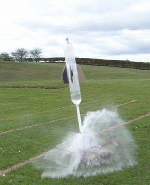Water rocket - Water rocket launch