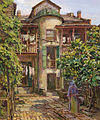 Laundry Day in the Courtyard, French Quarter, by Robert Wadsworth Grafton.jpg