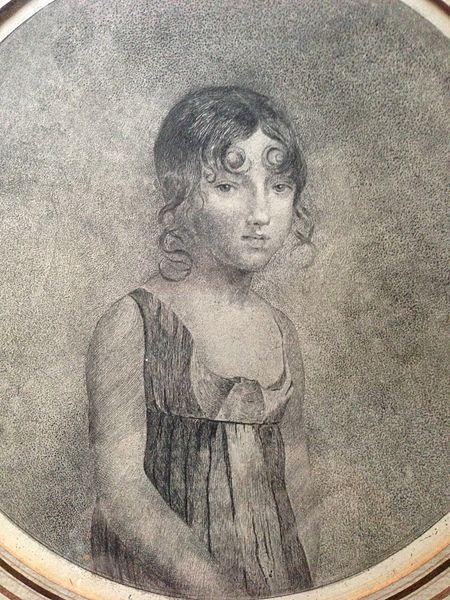 Crayon de Laure de Comère dans sa Jeunesse - Coll. Particulière