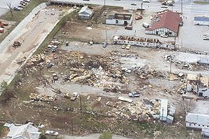 History of Lawton, Oklahoma - Tornado damage on April 10, 1979
