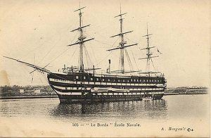 French ship Borda - Image: Le borda ecole navale 1 Bougault