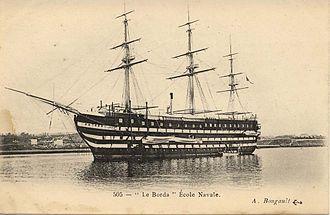 French ship Valmy (1847) - Image: Le borda ecole navale 1 Bougault