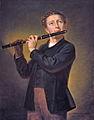 Le flûtiste, par Antoine Plamondon, 1867.jpg