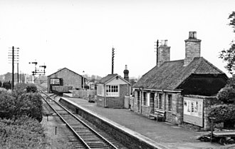 Lechlade - The town railway station in 1950