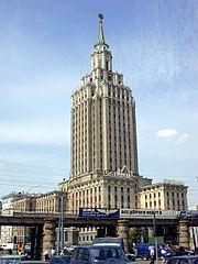 Hotel Leningradskaya in Moscow.