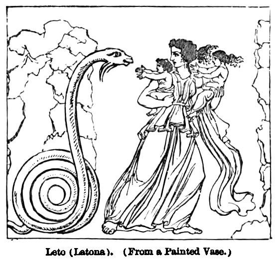 Leto (Latona). - Engravings on Wood