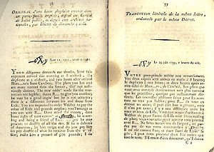 Committee of Public Safety - Lettre anglaise (English Letter) dated 29 June 1793 as published by the French National convention during the Revolution (1793). This document was used to prove English spying and conspiracy.