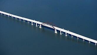 Lewisville Lake Toll Bridge - Image: Lewisvillelaketollbr idgejpg