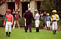 "Lexington Kentucky - Keeneland ""Jockeys in the Paddock"" (4869667237) (2).jpg"