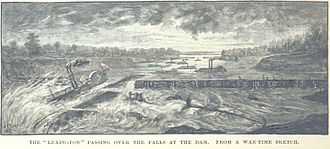 USS Lexington (1861) - Lexington crosses over the falls