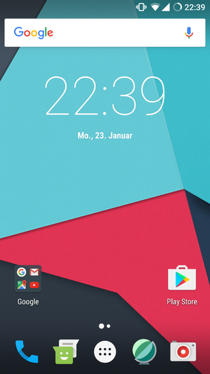 LineageOS 14.1 homescreen german.png