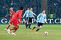 Lionel Messi (R) – Portugal vs. Argentina, 9th February 2011 (1).jpg